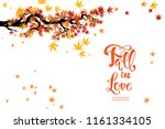 isolated autumn branch | Shutterstock .eps vector #1161334105