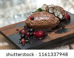 modern brown chocolate mousse... | Shutterstock . vector #1161337948