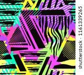 boho textile seamless pattern.... | Shutterstock .eps vector #1161339265