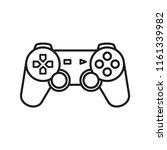 game controller vector icon  | Shutterstock .eps vector #1161339982