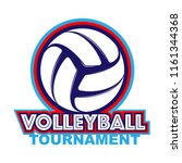 abstract volleyball symbol with ... | Shutterstock .eps vector #1161344368