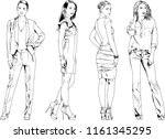 vector drawings on the theme of ... | Shutterstock .eps vector #1161345295