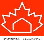 house and maple leaf canadian... | Shutterstock .eps vector #1161348442
