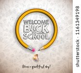 back to school design with... | Shutterstock .eps vector #1161349198