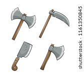 set of colored icons. axe with... | Shutterstock .eps vector #1161350845