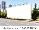 large blank billboard...   Shutterstock . vector #1161351055