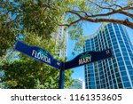 cityscape sign view of the... | Shutterstock . vector #1161353605