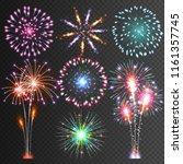 festive firework.  isolated... | Shutterstock . vector #1161357745