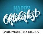 oktoberfest celebration... | Shutterstock .eps vector #1161362272