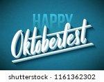 oktoberfest celebration... | Shutterstock .eps vector #1161362302