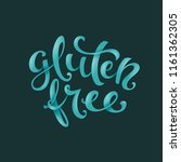 poster with handdrawn gluten... | Shutterstock .eps vector #1161362305