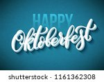 oktoberfest celebration... | Shutterstock .eps vector #1161362308