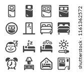 bedroom icon set | Shutterstock .eps vector #1161362572