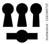 set keyholes silhouette  icon.... | Shutterstock .eps vector #1161369715