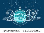 happy holidays  season's... | Shutterstock .eps vector #1161379252