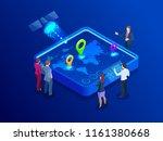 isometric global network...   Shutterstock .eps vector #1161380668