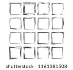 square grunge frames collection.... | Shutterstock .eps vector #1161381508