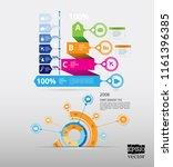 design colorful presentation... | Shutterstock .eps vector #1161396385