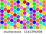 honeycomb many color ... | Shutterstock . vector #1161396508