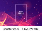 abstract lines background with... | Shutterstock .eps vector #1161399502