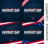 set of patriot day promotions ... | Shutterstock .eps vector #1161409915