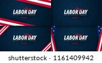set of labor day sale... | Shutterstock .eps vector #1161409942