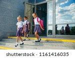 portrait of school kids with... | Shutterstock . vector #1161416035