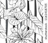 tropical  modern stripes motif. ... | Shutterstock .eps vector #1161418705