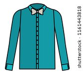elegant shirt with bowtie   Shutterstock .eps vector #1161443818