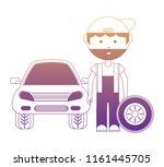 cartoon mechanic icon   Shutterstock .eps vector #1161445705
