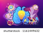 business team working on... | Shutterstock .eps vector #1161449632