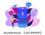 user with voice controlled... | Shutterstock .eps vector #1161449692