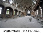 fish eye photo of an abandoned... | Shutterstock . vector #1161473068