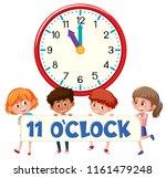 a group of children holding... | Shutterstock .eps vector #1161479248