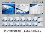 set desk calendar 2019 template ... | Shutterstock .eps vector #1161485182