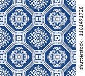 talavera pattern.  azulejos... | Shutterstock .eps vector #1161491728
