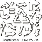 trendy collection of different... | Shutterstock .eps vector #1161497245