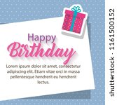 happy birthday card with gifts | Shutterstock .eps vector #1161500152