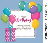 happy birthday card with gifts | Shutterstock .eps vector #1161500248