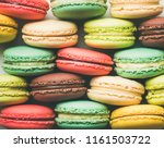 flat lay of sweet colorful... | Shutterstock . vector #1161503722