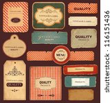 vector collection  vintage and... | Shutterstock .eps vector #116151436