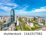 Cityscape of the highest building in Binhai Central Business District, Haikou City, Hainan Province, China