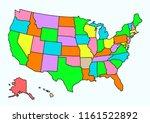 vector design of usa maps area  | Shutterstock .eps vector #1161522892