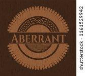 aberrant wooden emblem. retro | Shutterstock .eps vector #1161529942