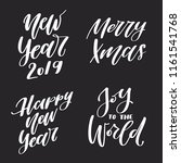 winter holiday quotes. new year ... | Shutterstock .eps vector #1161541768