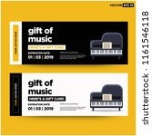 music gift card with piano... | Shutterstock .eps vector #1161546118