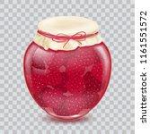 raspberry jam. blackberry jam.... | Shutterstock .eps vector #1161551572