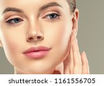 beautiful woman face lips... | Shutterstock . vector #1161556705