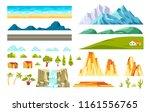 landscape constructor vector... | Shutterstock .eps vector #1161556765