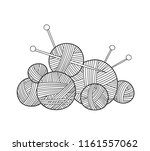 vector illustration of ball of... | Shutterstock .eps vector #1161557062
